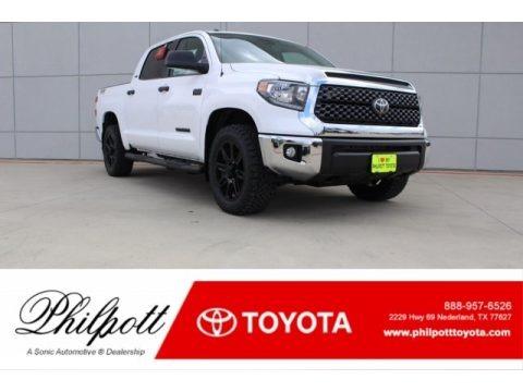 Super White 2018 Toyota Tundra TSS CrewMax