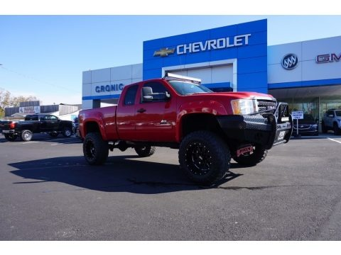 Fire Red 2011 GMC Sierra 2500HD SLE Extended Cab 4x4