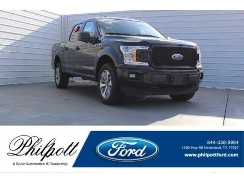 Shadow Black 2018 Ford F150 XL SuperCrew 4x4