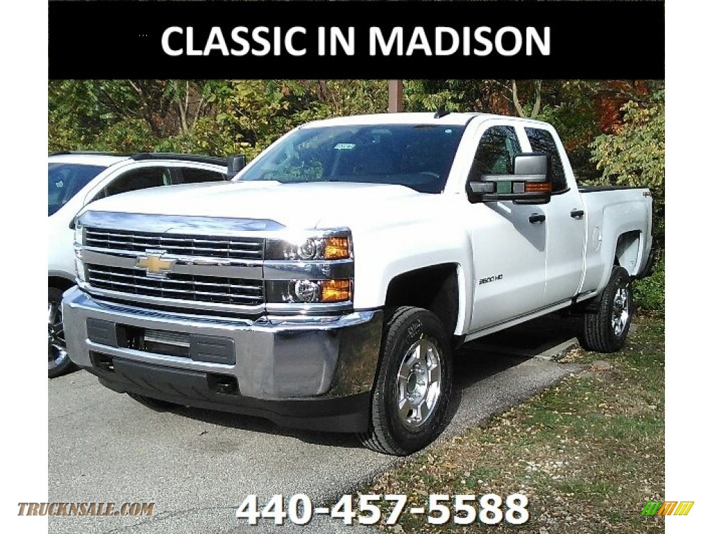 Summit White / Dark Ash/Jet Black Chevrolet Silverado 2500HD Work Truck Double Cab 4x4