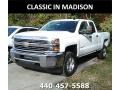 Chevrolet Silverado 2500HD Work Truck Double Cab 4x4 Summit White photo #1