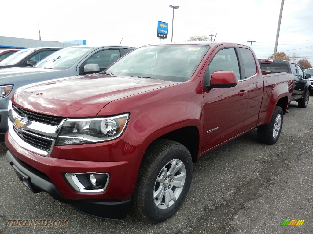 2018 Colorado LT Extended Cab 4x4 - Cajun Red Tintcoat / Jet Black photo #1