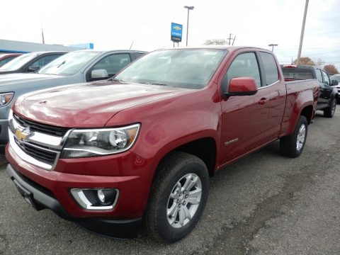 Cajun Red Tintcoat 2018 Chevrolet Colorado LT Extended Cab 4x4