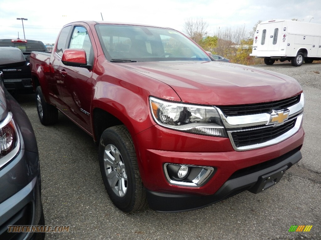 2018 Colorado LT Extended Cab 4x4 - Cajun Red Tintcoat / Jet Black photo #3