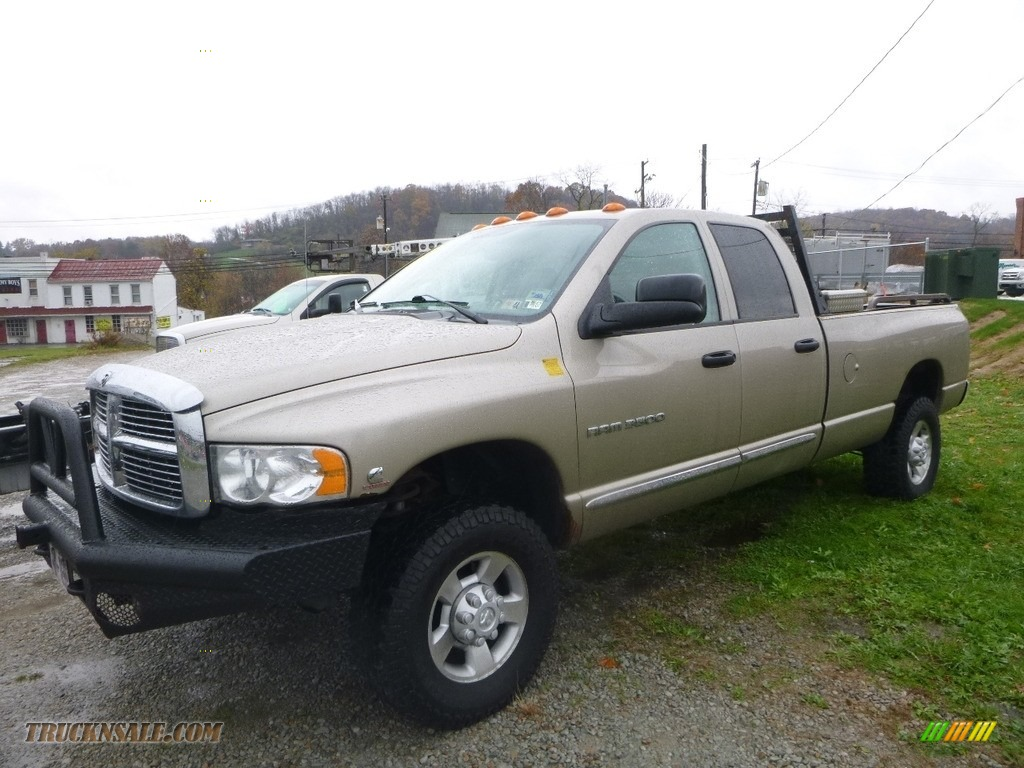 2005 Ram 3500 ST Quad Cab 4x4 - Bright Silver Metallic / Taupe photo #1