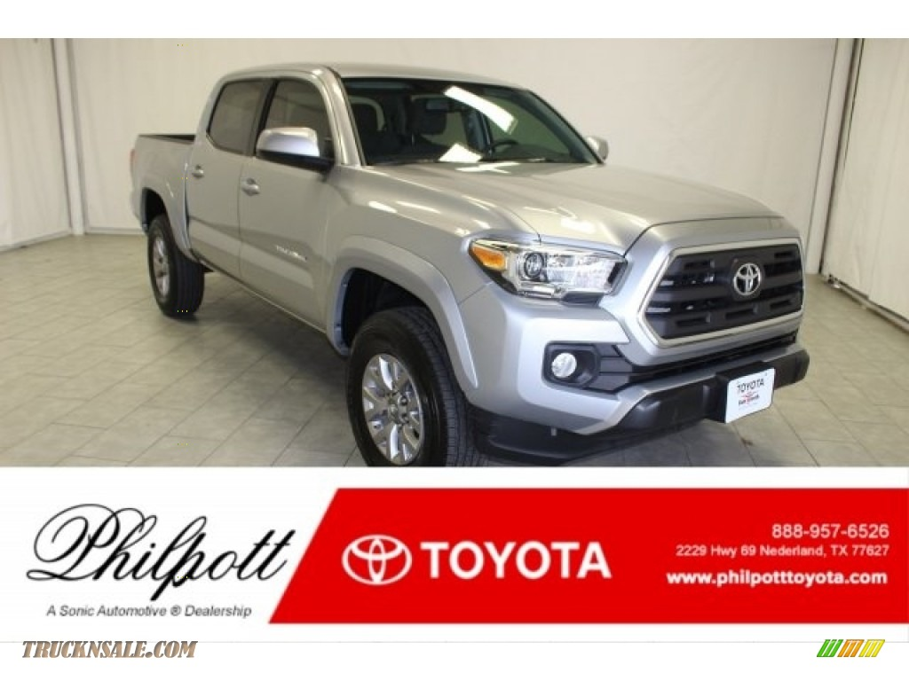 Silver Sky Metallic / Cement Gray Toyota Tacoma SR5 Double Cab