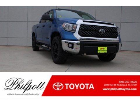 Blazing Blue Pearl 2018 Toyota Tundra TSS CrewMax