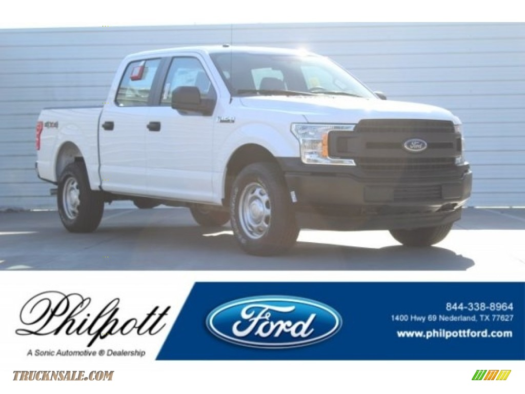 2018 F150 XL SuperCrew 4x4 - Oxford White / Earth Gray photo #1