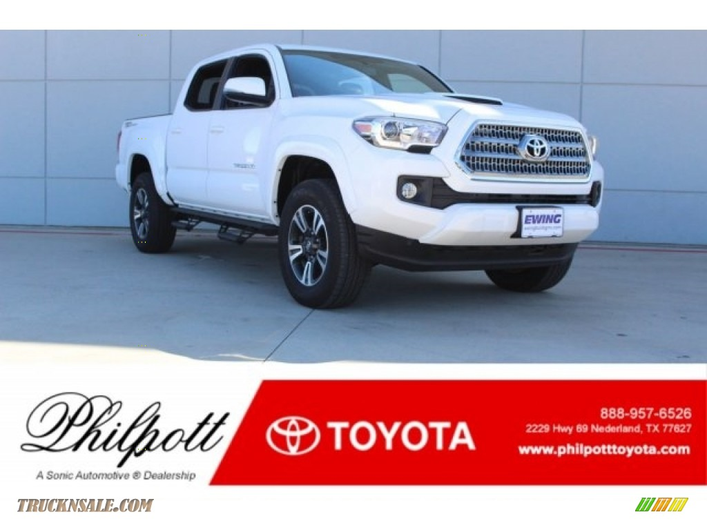 Super White / Cement Gray Toyota Tacoma TRD Sport Double Cab
