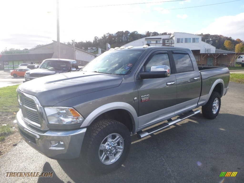 2012 Ram 2500 HD Laramie Crew Cab 4x4 - Mineral Gray Metallic / Dark Slate photo #1