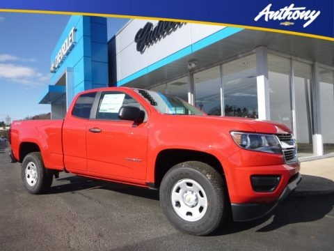 Red Hot 2018 Chevrolet Colorado WT Extended Cab 4x4
