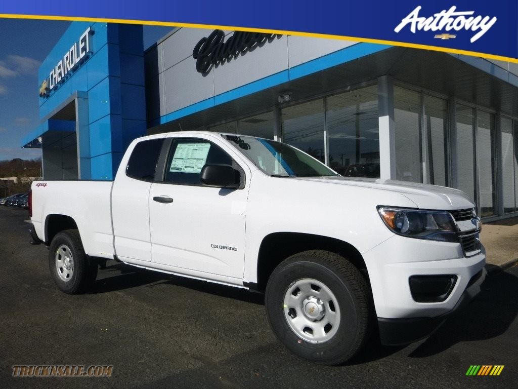 2018 Colorado WT Extended Cab 4x4 - Summit White / Jet Black/Dark Ash photo #1