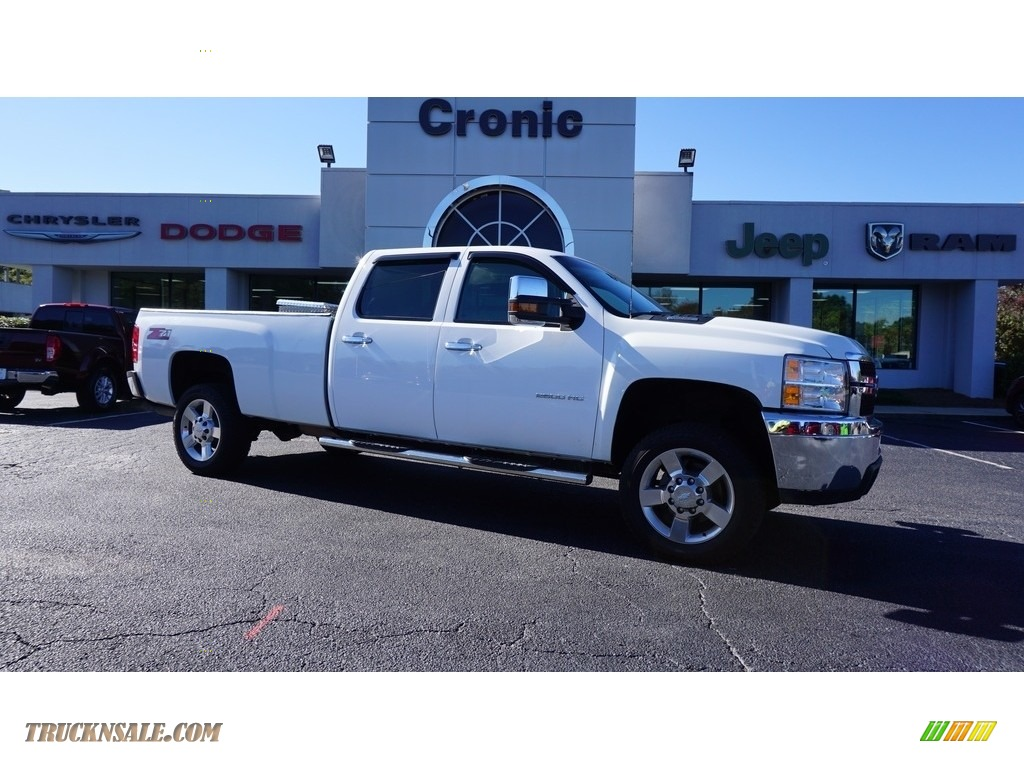 Summit White / Dark Titanium Chevrolet Silverado 2500HD Work Truck Crew Cab 4x4