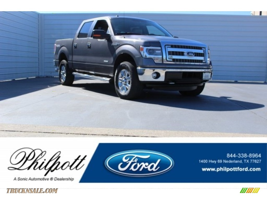 2014 F150 XLT SuperCrew 4x4 - Sterling Grey / Steel Grey photo #1