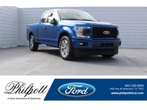 Lightning Blue 2018 Ford F150 STX SuperCab