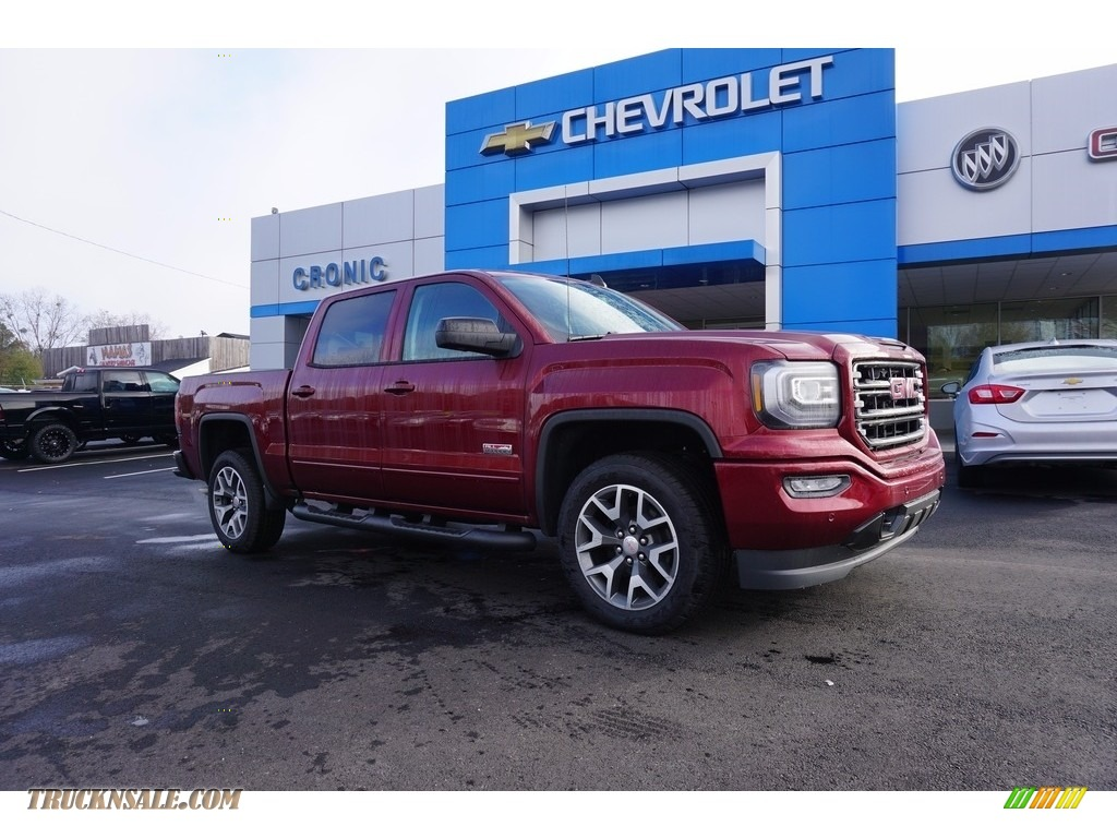 2017 Sierra 1500 SLT Crew Cab 4WD - Crimson Red Tintcoat / Jet Black photo #1