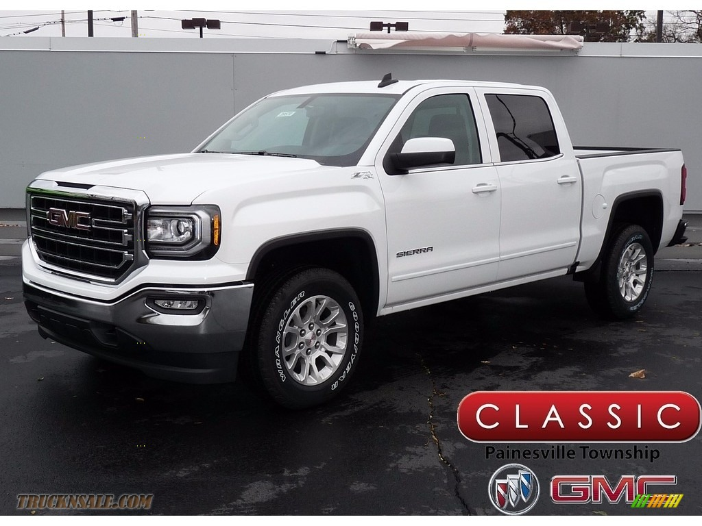 Summit White / Jet Black GMC Sierra 1500 SLE Crew Cab 4WD