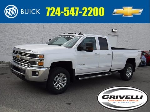 Summit White 2017 Chevrolet Silverado 3500HD LT Double Cab 4x4