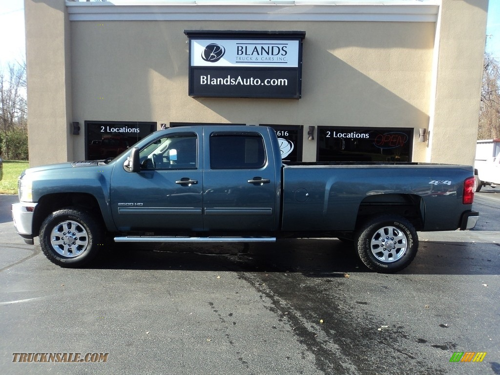 2013 Silverado 2500HD LT Crew Cab 4x4 - Blue Granite Metallic / Ebony photo #1