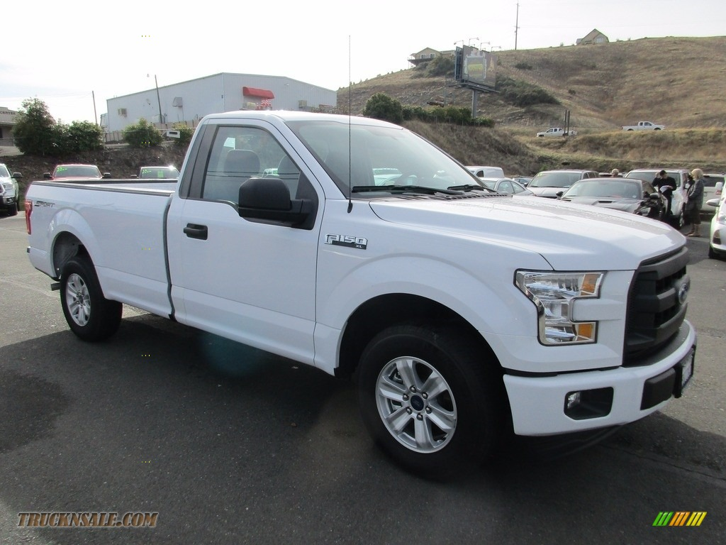 2017 F150 XL Regular Cab - Oxford White / Earth Gray photo #1
