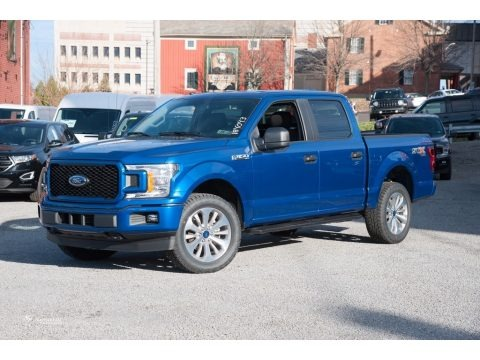 Lightning Blue 2018 Ford F150 STX SuperCrew 4x4