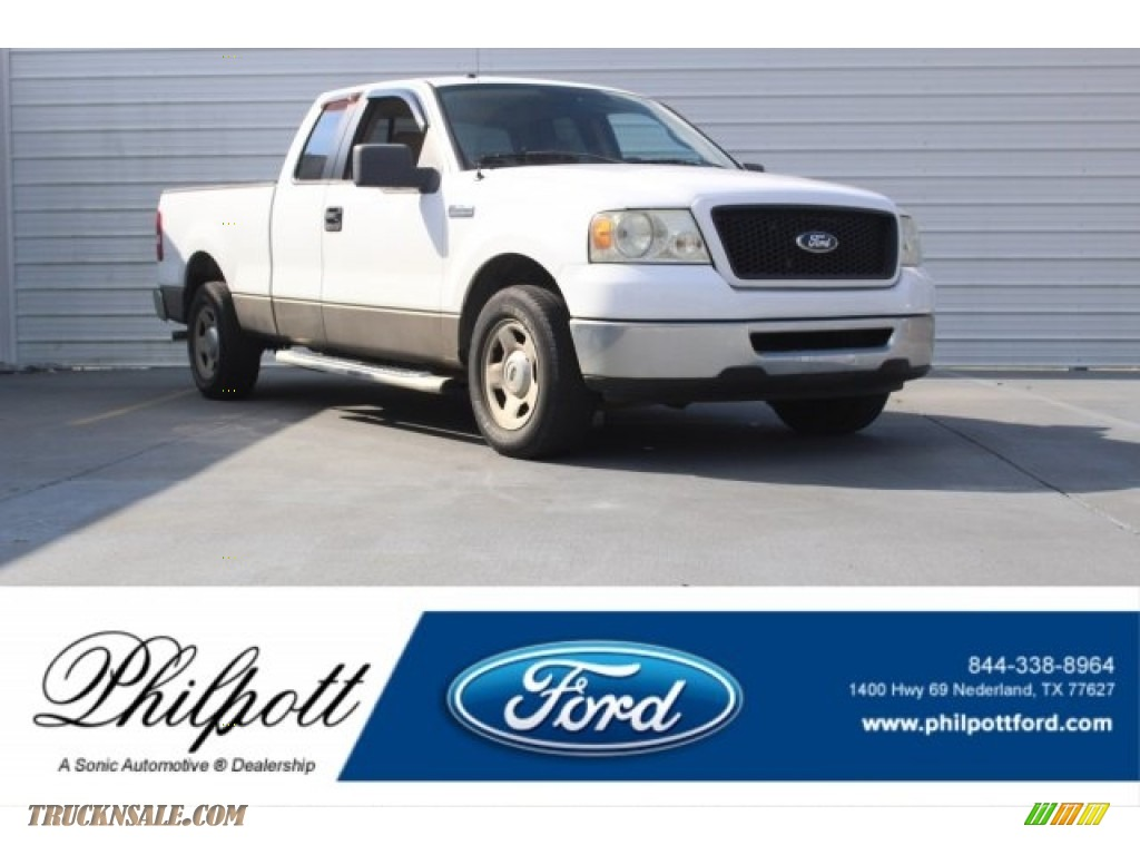 2006 F150 XLT SuperCab - Oxford White / Tan photo #1