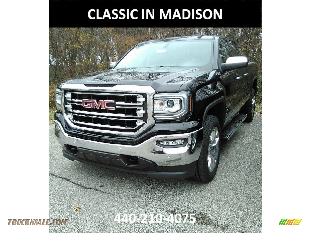 2018 Sierra 1500 SLT Double Cab 4WD - Onyx Black / Jet Black photo #1