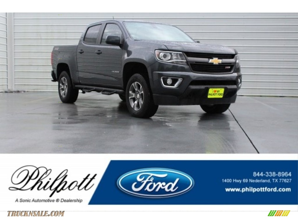2016 Colorado Z71 Crew Cab 4x4 - Rainforest Green Metallic / Jet Black photo #1