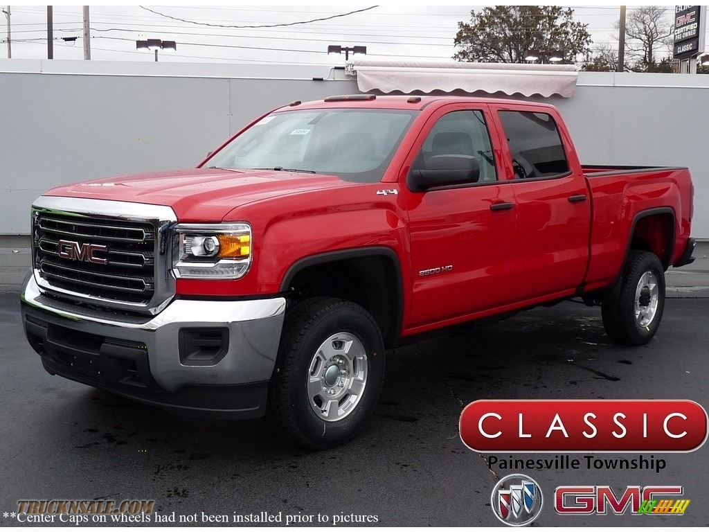 2018 Sierra 2500HD Crew Cab 4x4 - Cardinal Red / Jet Black/­Dark Ash photo #1