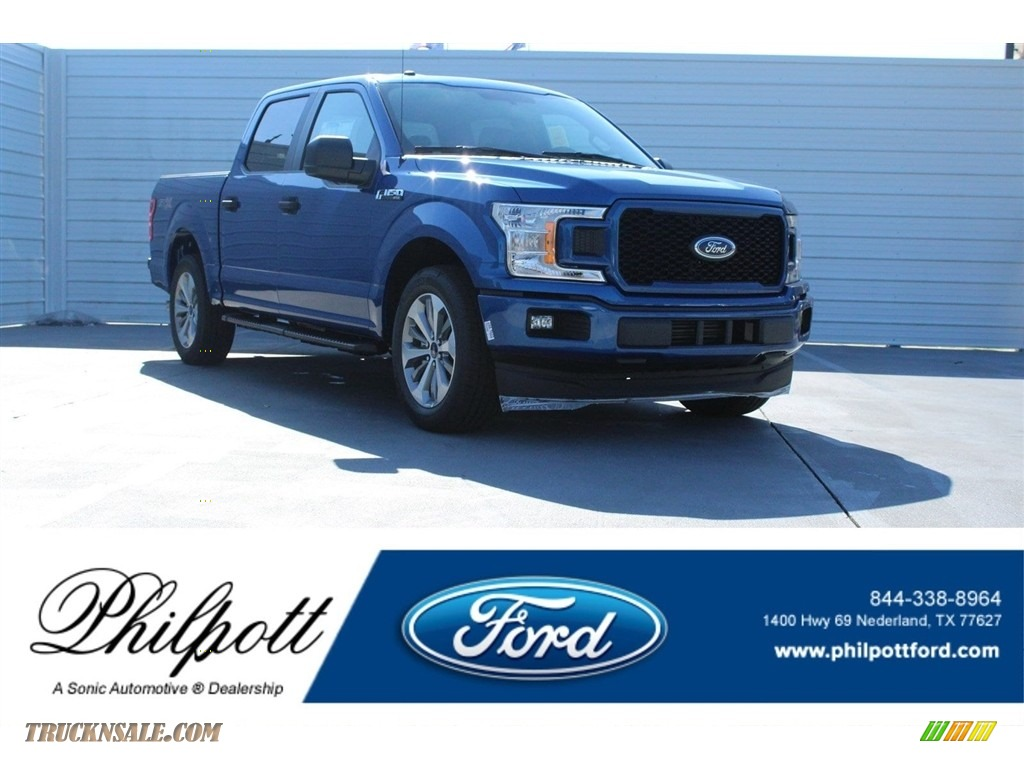 2018 F150 STX SuperCrew - Lightning Blue / Earth Gray photo #1
