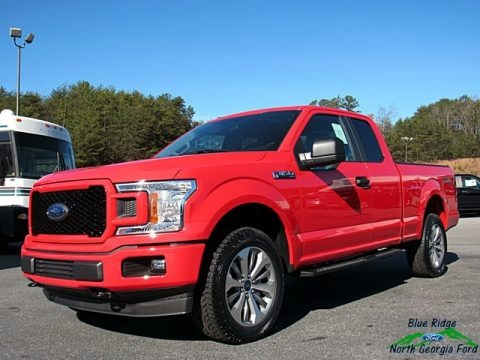 Race Red 2018 Ford F150 XL SuperCab 4x4