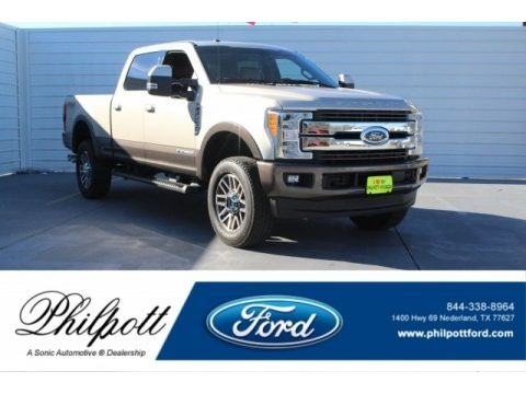 White Gold 2017 Ford F250 Super Duty King Ranch Crew Cab 4x4