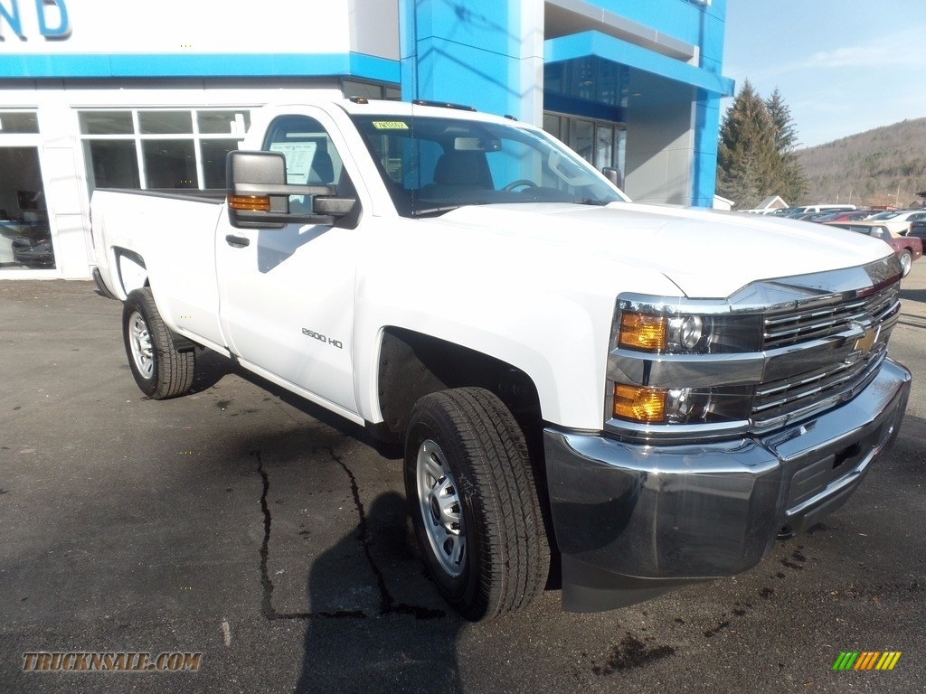 2017 Silverado 2500HD Work Truck Regular Cab 4x4 - Summit White / Dark Ash/Jet Black photo #1
