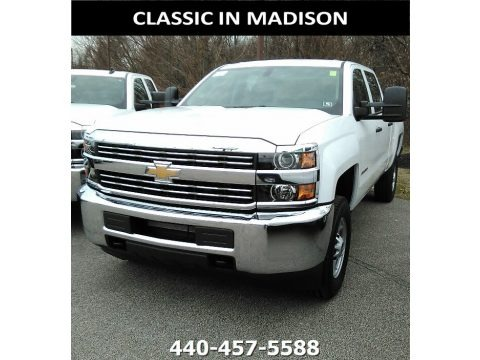 Summit White 2018 Chevrolet Silverado 2500HD Work Truck Crew Cab 4x4