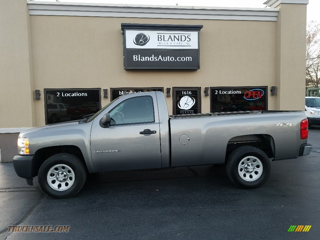 2008 Silverado 1500 Work Truck Regular Cab 4x4 - Graystone Metallic / Dark Titanium photo #1