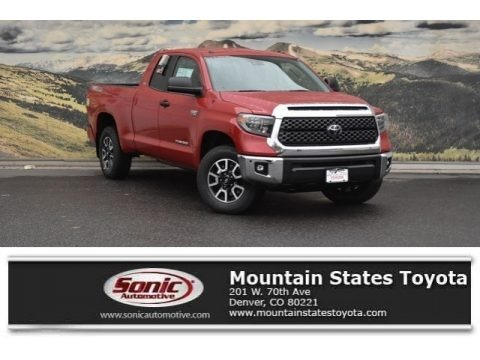 Barcelona Red Metallic 2018 Toyota Tundra SR5 Double Cab 4x4
