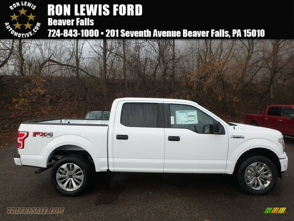 2018 F150 STX SuperCrew 4x4 - Oxford White / Black photo #1