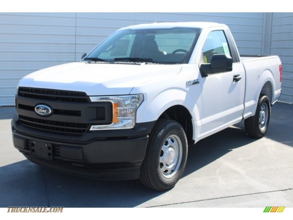 2018 F150 XL Regular Cab - Oxford White / Earth Gray photo #3