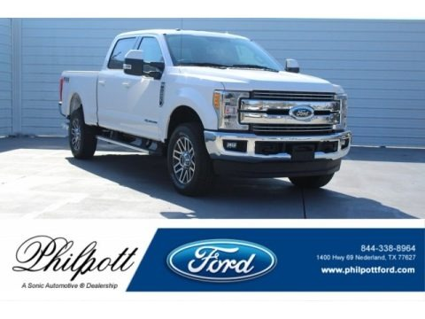 Oxford White 2017 Ford F250 Super Duty Lariat Crew Cab 4x4