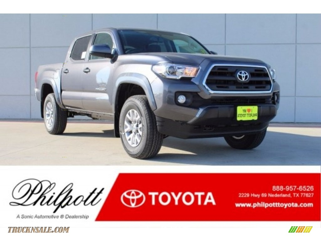 2017 Tacoma SR5 Double Cab - Magnetic Gray Metallic / Cement Gray photo #1