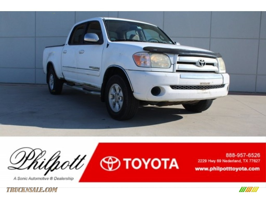 2006 Tundra SR5 Double Cab - Natural White / Dark Gray photo #1