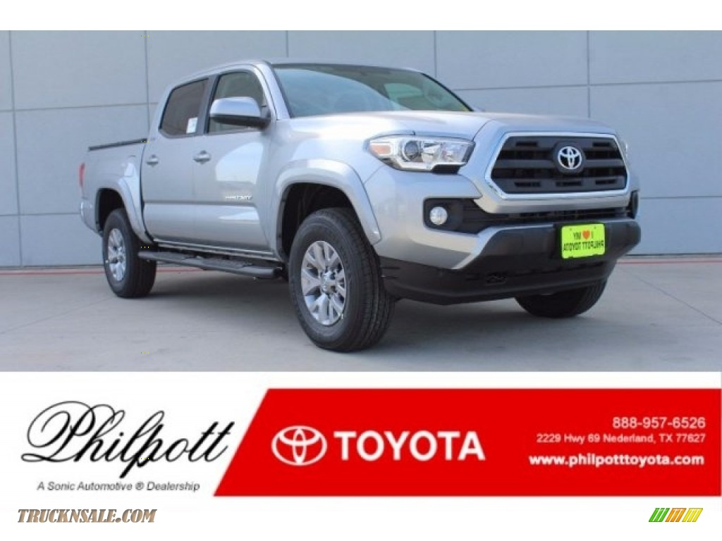 2017 Tacoma SR5 Double Cab - Silver Sky Metallic / Cement Gray photo #1