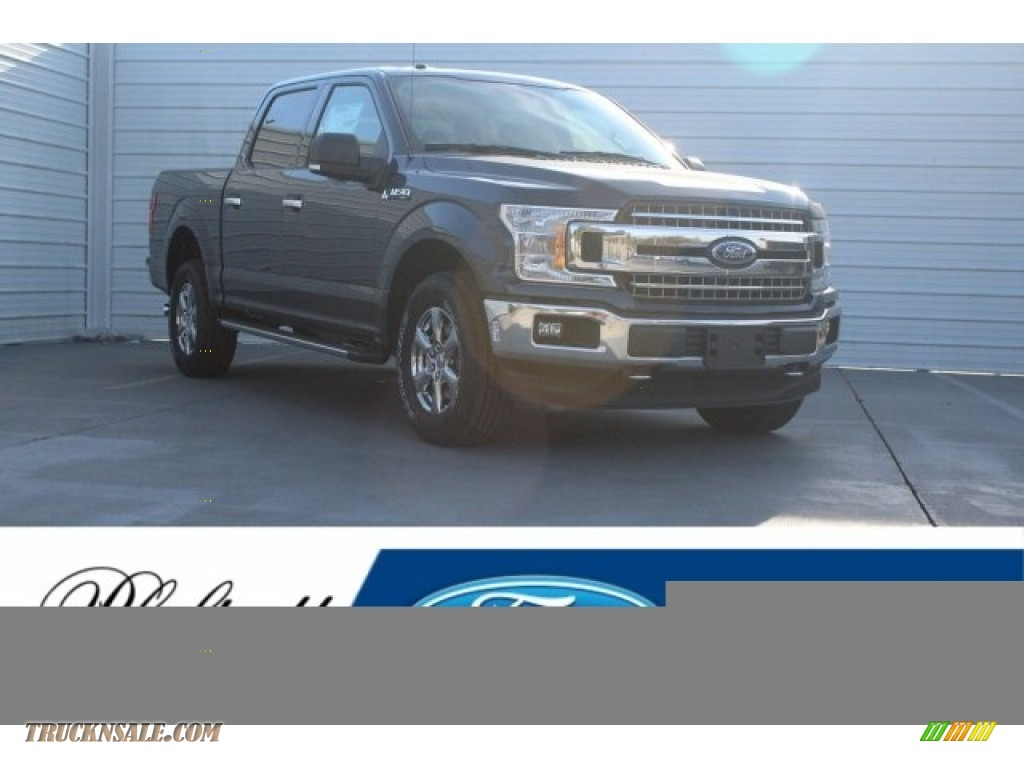 2018 F150 XLT SuperCrew 4x4 - Blue Jeans / Earth Gray photo #1