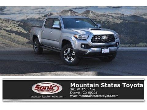 Silver Sky Metallic 2018 Toyota Tacoma TRD Sport Double Cab 4x4