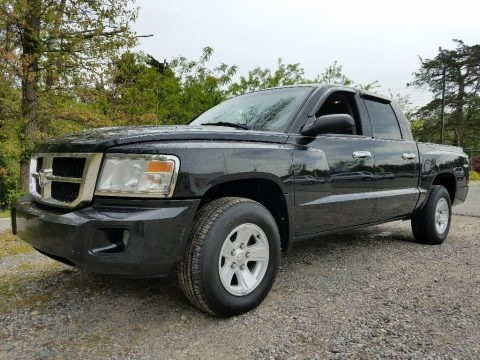Brilliant Black 2008 Dodge Dakota SLT Crew Cab 4x4