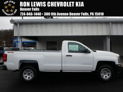 Summit White 2018 Chevrolet Silverado 1500 WT Regular Cab 4x4