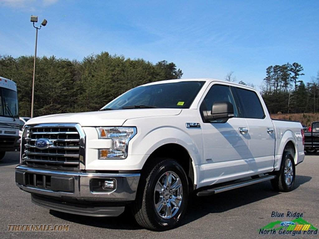2015 F150 XLT SuperCrew - Oxford White / Medium Earth Gray photo #1