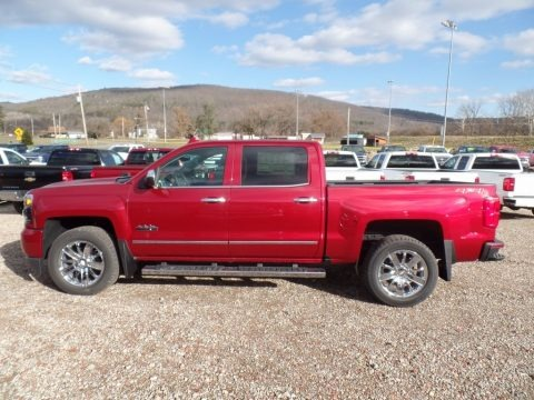 Cajun Red Tintcoat 2018 Chevrolet Silverado 1500 High Country Crew Cab 4x4