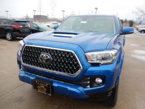 Blazing Blue Pearl 2018 Toyota Tacoma TRD Sport Double Cab 4x4