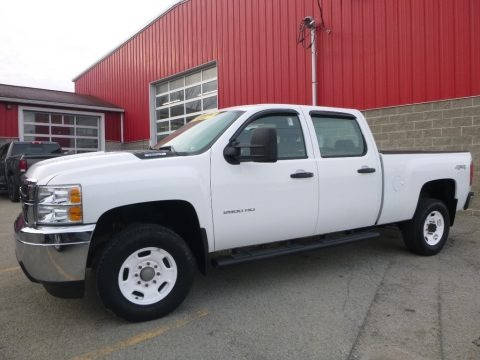Summit White 2012 Chevrolet Silverado 2500HD Work Truck Crew Cab 4x4